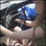 Jess Cranking the Volvo for Her Boyfriend, 1 of 2