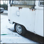 Hana Stuck in the Mud & Snow with the Bus, 1 of 2