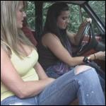 Mandie & Tinsley Pumping the Volvo, 1 of 2
