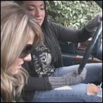 Mandie & Tinsley Smoking & Chatting in the Caddy, 2 of 3