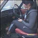 Mandie Cranking the Volvo to go to Gym – #85