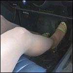 Mandie Driving Blazer in Sheer Hose – #142