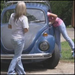 Miley & Riley Cranking Musical Cars