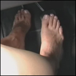 Tiffany Peeling Out in Some Cars Barefoot, 1 of 2