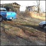 Baby Stuck in the Malibu & Uses the Dodge to Pull It, 1 of 3