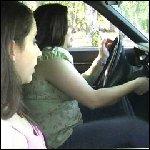 Bella & Sophia Cranking the Coronet, 1 of 2