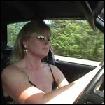 Breathless Driving the Torino in Strappy High Heels