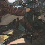 Kristen Cranking Mack Truck in Gloves & Boots