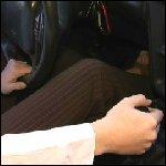 Kristen Driving 2000 Camaro SS in Open Toes