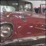 Kristen Revving 1957 Chevy Bel Air