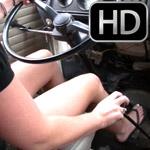 Mandie & Tinsley Driving the VW Bus in Flip Flops