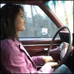 Penelope Driving the Caprice Self-Filmed