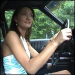 Penelope Cranking & Driving her Fiancee in the Torino, 2 of 2