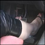 Princess Cranking Volvo in Shiny Leggings – #80