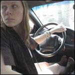 Princess Driving in Reverse in Flip Flops, 1 of 2