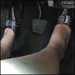 Princess Driving Camaro SS in Slingback Pumps