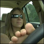 Princess Driving VW Jetta with her Feet – #48, 1 of 2