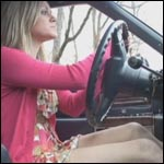 Reese Cranks & Drives the Caddy in Wedge Sandals, 1 of 3