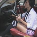 Schoolgirl Star Revving the Volvo