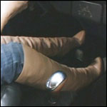 Sugarmomma Cranking the Bug in Vintage Boots