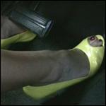 Veronica Cranking Coronet in Yellow Peep Toe Pumps, 1 of 2