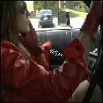Kookie Driving in Itty Bitty Skirt & Gloves