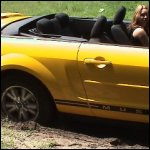 Lee Driving the Convertible Mustang & Gets Stuck