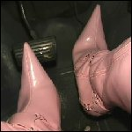 Lexi Pedal Pumping the Blazer in Pink Boots