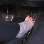 Milla Driving the Cadillac Barefoot