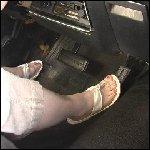 Milla Starts & Drives the Coronet in Flip Flops