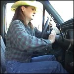 Mustang Sally Cowgirl Cranking the Bronco
