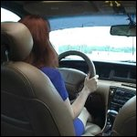 Mustang Sally Driving the Lincoln in Blue Pumps