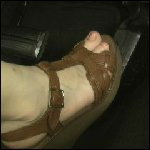 Nicole Revving in Wedge Sandals