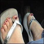 Nikki Revving in Flip Flops