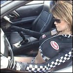 Nikki Revving Camaro in Sexy Racegirl Costume