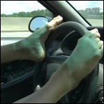 Raven Driving with Feet – #49, 1 of 2