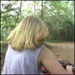 Scarlet & Hunter Riding the 4-wheeler