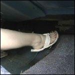 Scarlet Cranking the Pontiac in Leather & Flip Flops, 2 of 2