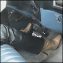 Scarlet Cranking the Truck in Leather Pants & Boots, 1 of 2