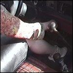 Scarlet Pissed Off Cranking in Strappy Stiletto Heels