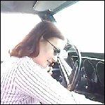 Scarlet Driving a 1968 Camaro