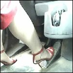 Scarlet Driving Big Rig in Stiletto Strappy Sandals