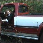 Scarlet Gets her Dually Diesel Stuck in the Mud