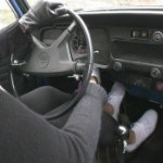 Veronica Cold Cranking the Bug in Keds & Gloves, 1 of 2