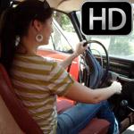 Paige Erin Turner Cranking the Volvo Ponytail & Flip Flops