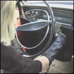 Stacey Cranks the Volvo in Leather Pants, Gloves & Peep Toes, 3 of 3