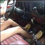 Stormy Driving the 78 Bronco in Bikini & Flip Flops