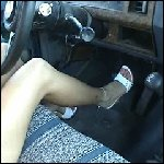 Tremble Driving in White Open Toe Sandals