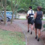 Christal & Gianna Head in to Work, 1 of 2