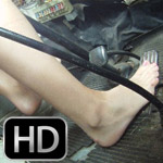 Jess Driving the Bus in Flats & Bare Feet, 2 of 2